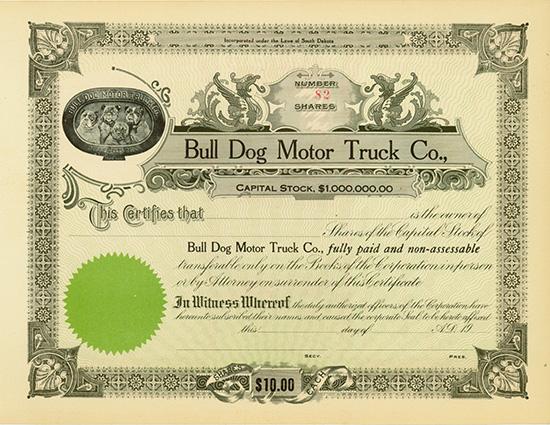 Bull Dog Motor Truck Co.