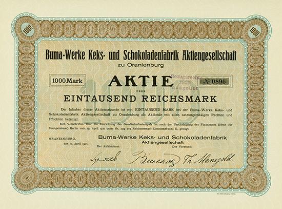 Buma-Werke Keks- und Schokoladenfabrik AG