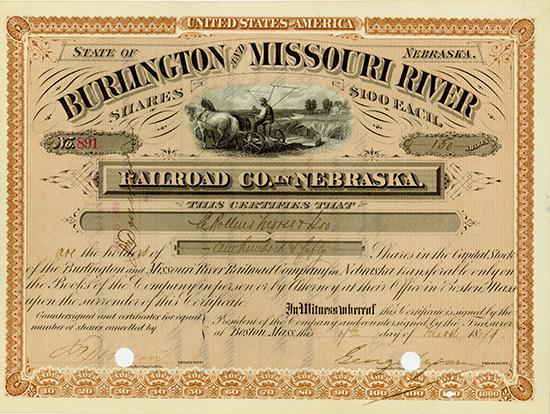 Burlington and Missouri River Railroad Co. in Nebraska