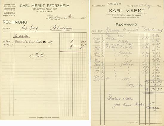 Carl Merkt / Karl Merkt [2 Stück]