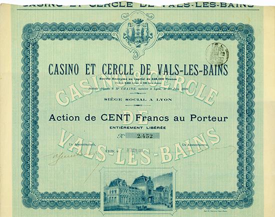 Casino et Cercle de Vals-les-Bains S.A.
