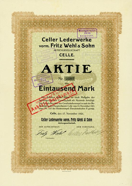 Celler Lederwerke vorm. Fritz Wehl & Sohn AG