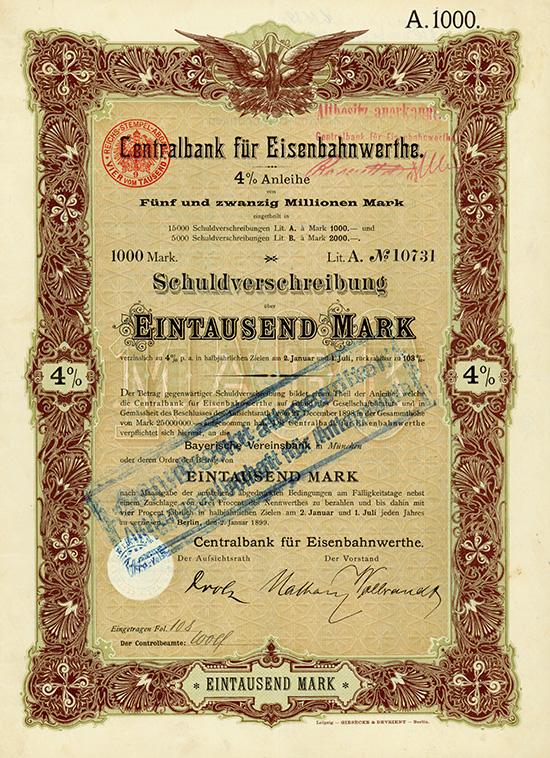 Centralbank für Eisenbahnwerthe