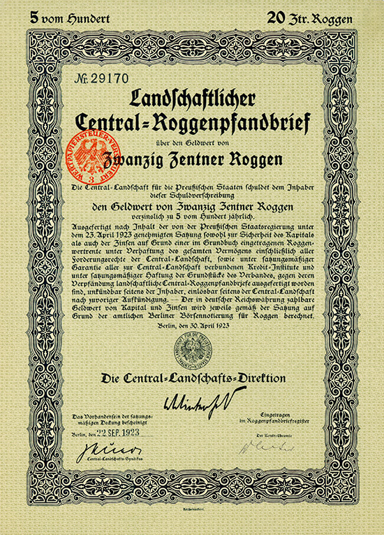 Central-Landschaft für die Preußischen Staaten