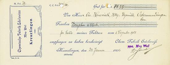 Chemische Fabrik Edelweiss ppa. Max Weil