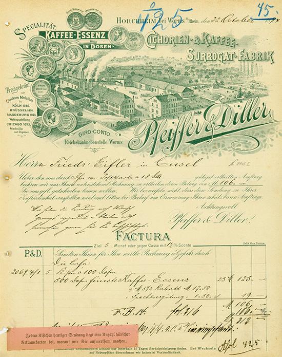Cichorien- & Kaffee-Surrogat-Fabrik Pfeiffer & Diller