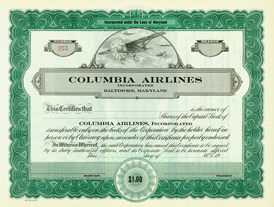 Columbia Airlines, Incorporated