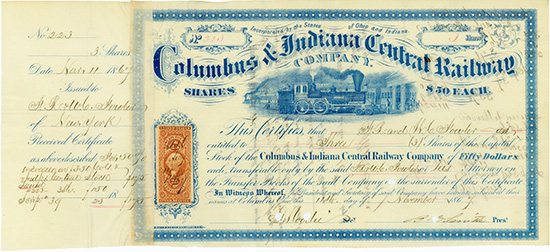 Columbus & Indiana Central Railway Company