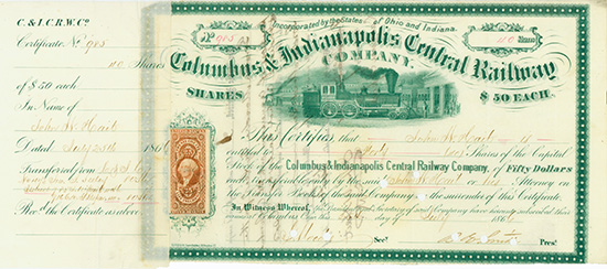 Columbus & Indianapolis Central Railway Company