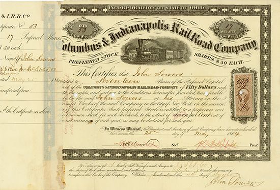 Columbus & Indianapolis Rail Road Company