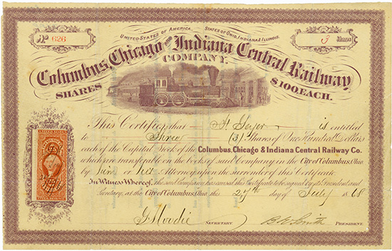 Columbus, Chicago and Indiana Central Railway Company