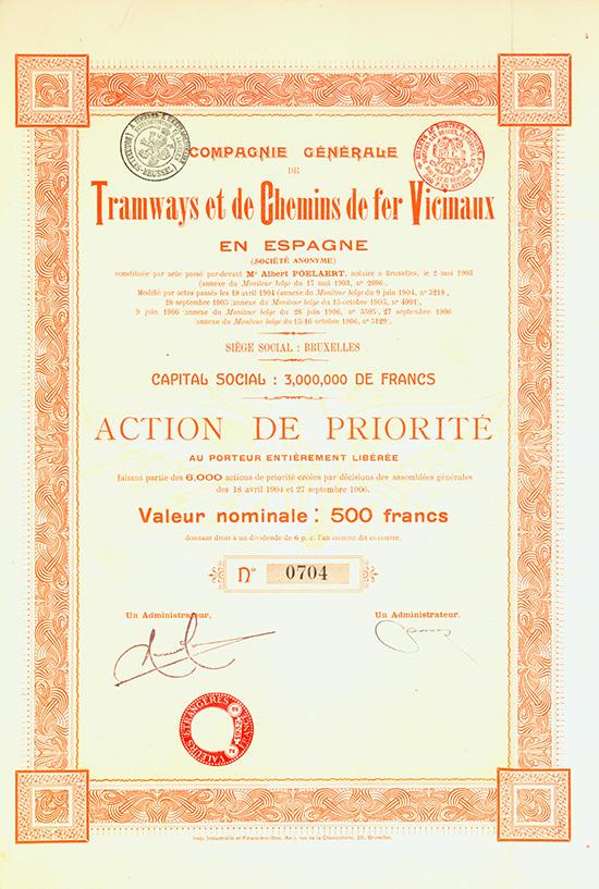 Compagnie Generale de Tramways et de Chemins de fer Vicinaux en Espagne