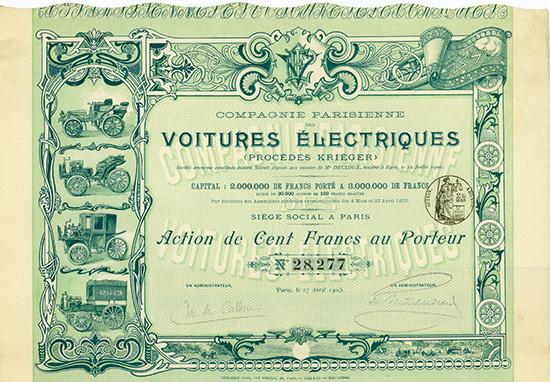 Compagnie Parisienne des Voitures Electriques (Procedes Krieger)