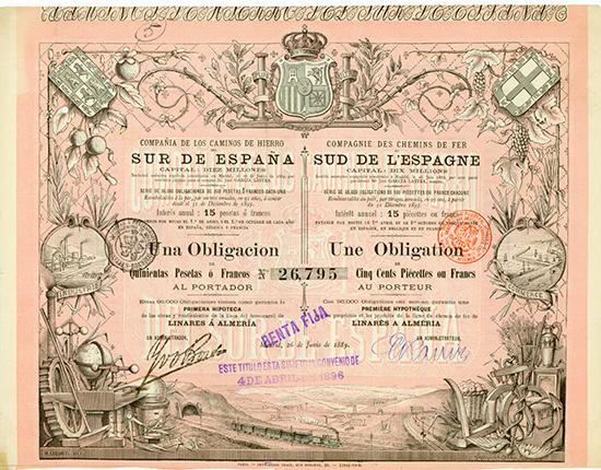 Compania de los Caminos de Hierro Sur de Espana / Compagnie des Chemins de Fer Sud de l'Espagne