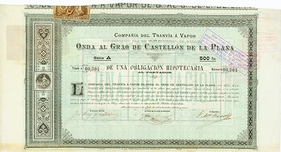 Compania del Tranvia a Vapor de Onda al Grao de Castellon de la Plana