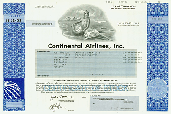 continental airlines inc Continental airlines also reserves the right to take any action as provided by its contract of carriage and its onepass program rules, including the termination of a violator's onepass account and the forfeiture of a violator's onepass miles.