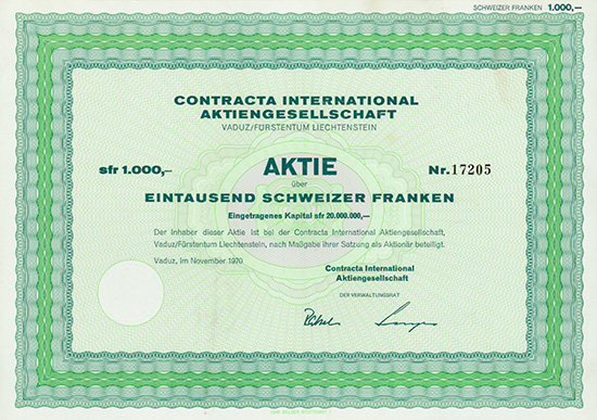 Contracta International AG