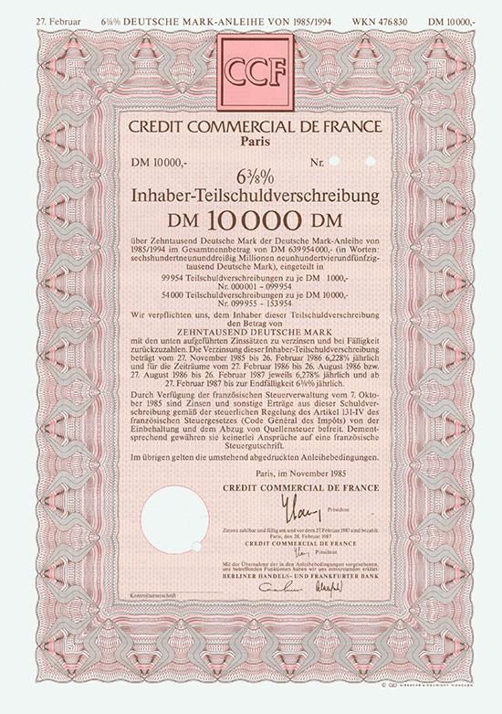 Credit Commercial de France