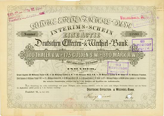 Deutsche Effecten- & Wechsel-Bank
