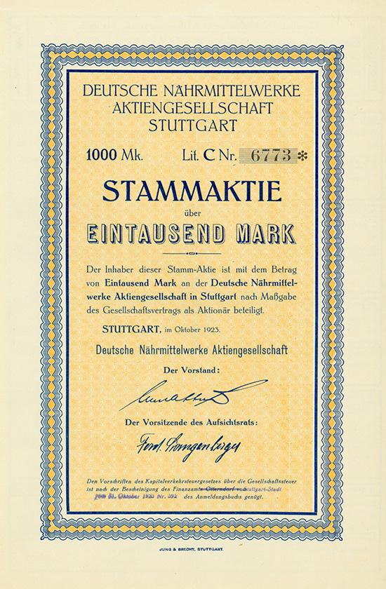 Deutsche Nährmittelwerke AG