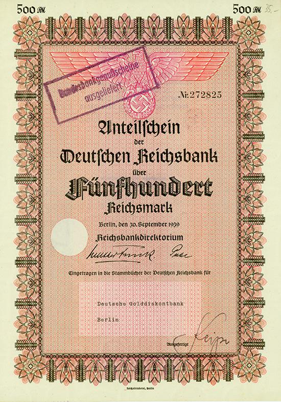 Deutsche Reichsbank [2 Stück]