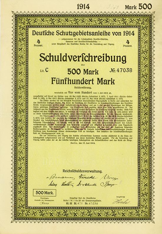 Deutsche Schutzgebietsanleihe von 1914