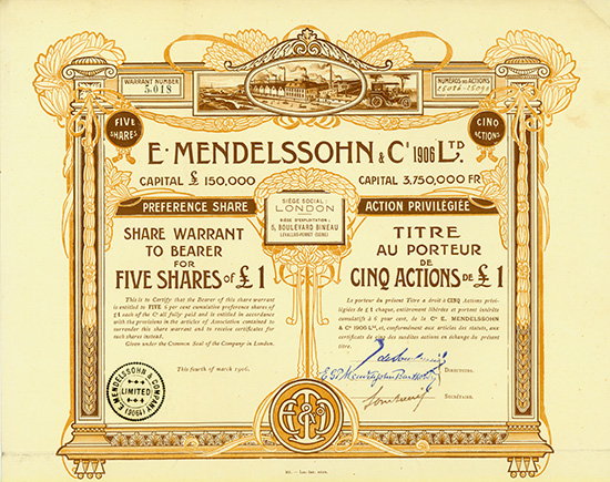 E. Mendelssohn & Co. 1906 Ltd.