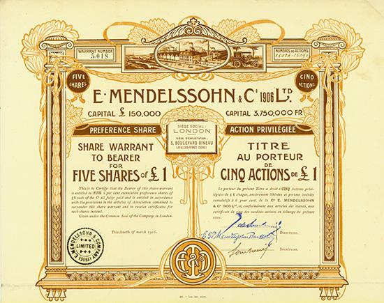 E. Mendelssohn & Co. 1906 Ltd.