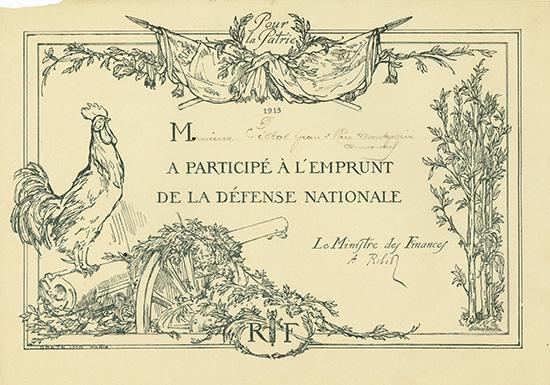 Emprunt de la Defense Nationale