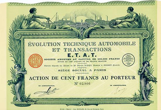 Evolution Technique Automobile et Transactions E.T.A.T. S.A.