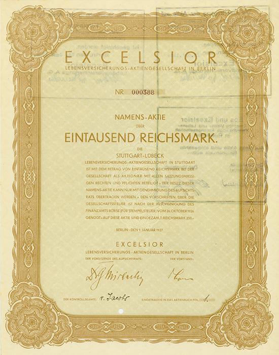 Excelsior Lebensversicherungs-AG