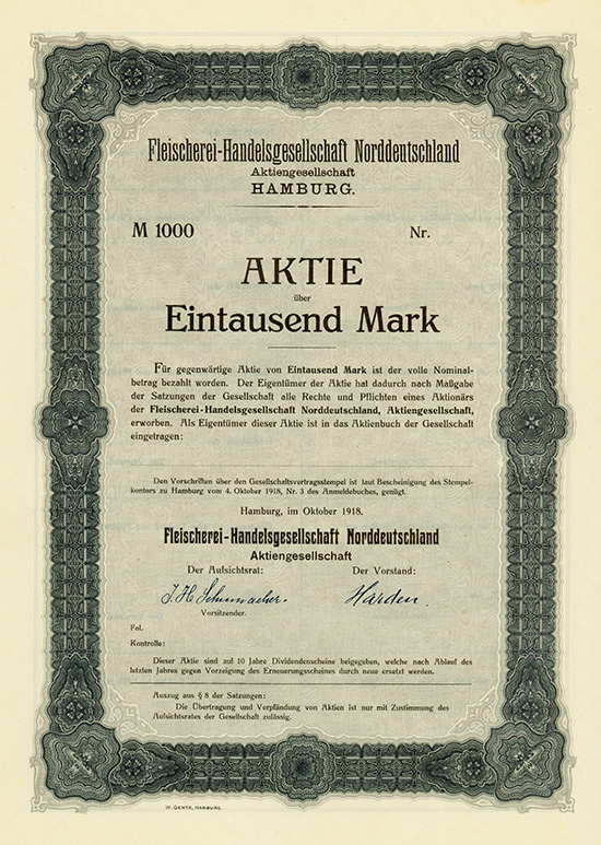 Fleischerei-Handelsgesellschaft Norddeutschland AG