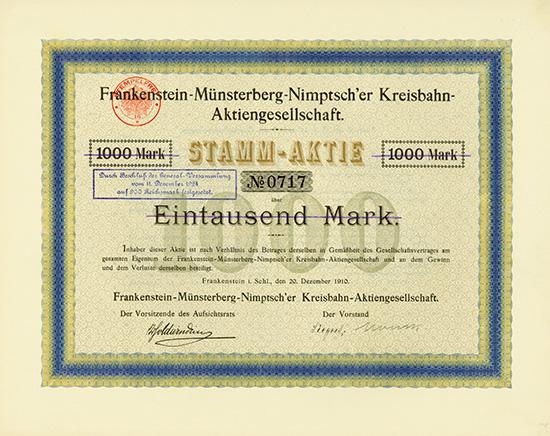 Frankenstein-Münsterberg-Nimptsch'er Kreisbahn-AG