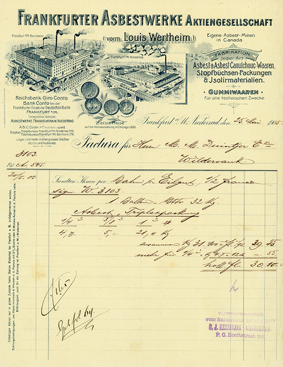 Frankfurter Asbestwerke AG (vorm. Louis Wertheim)