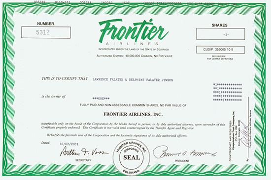 Frontier Airlines, Inc.