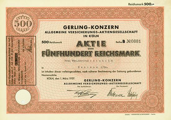 Gerling-Konzern Allgemeine Versicherungs-AG