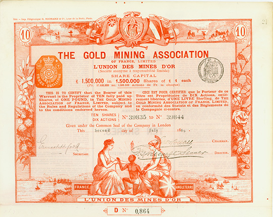 Gold Mining Association of France, Limited / L'Union des Mines d'Or S.A.