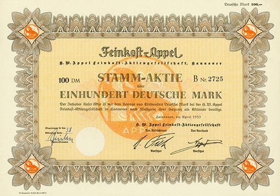 H. W. Appel Feinkost-AG