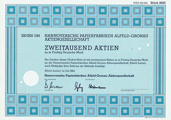 Hannoversche Papierfabriken Alfeld-Gronau AG