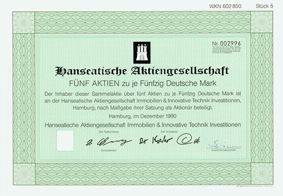 Hanseatische AG Immobilien & Innovative Technik Investitionen