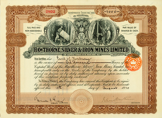 Hawthorne Silver & Iron Mines Limited