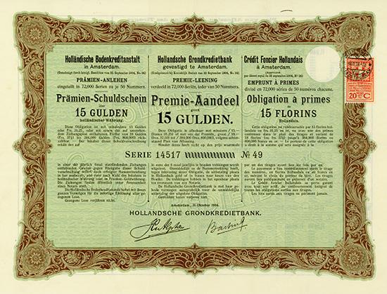 Holländische Bodenkreditanstalt / Hollandsche Grondkredietbank / Credit Foncier Hollandais