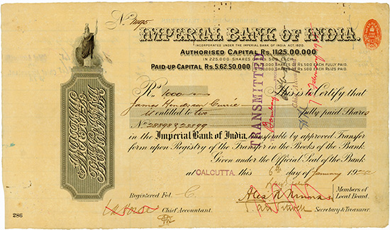 Imperial Bank of India [2 Stück]