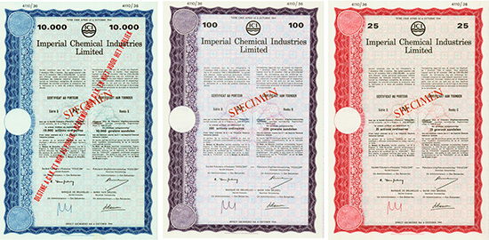 Imperial Chemical Industries Limited [3 Stück]