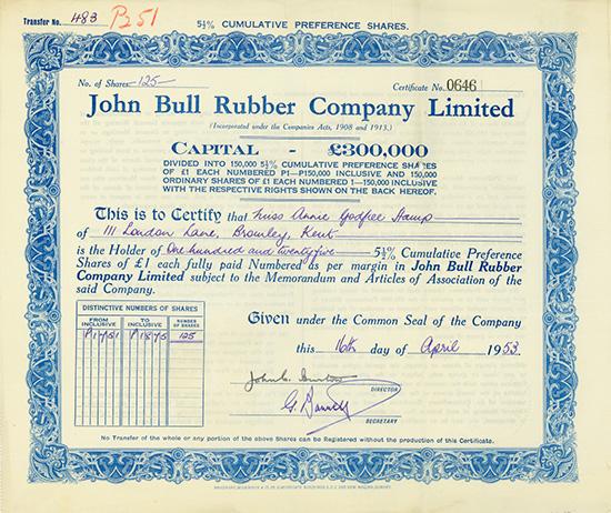 John Bull Rubber Company Limited