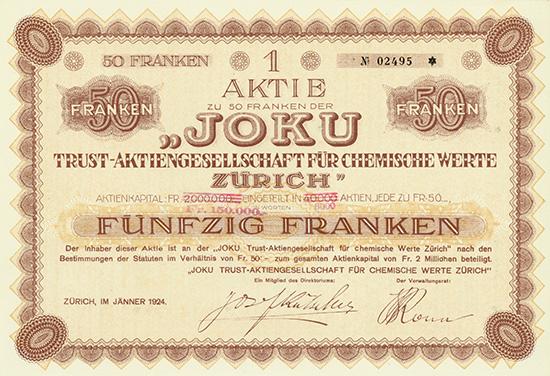 Joku Trust-Aktiengesellschaft für Chemische Werte Zürich