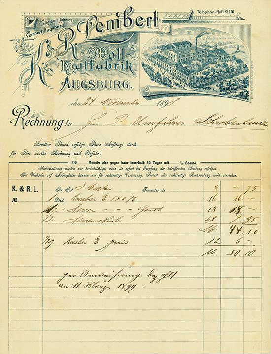 K. & R. Lembert, Woll-Hutfabrik