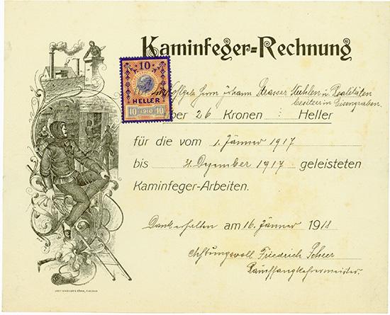 Kaminfeger-Rechnung