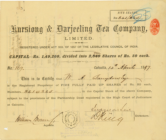 Kursiong & Darjeeling Tea Company, Limited