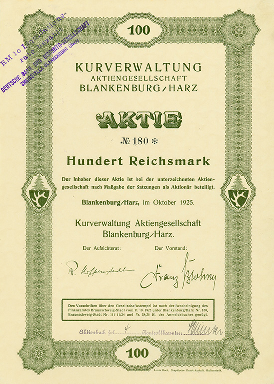 Kurverwaltung AG Blankenburg/Harz